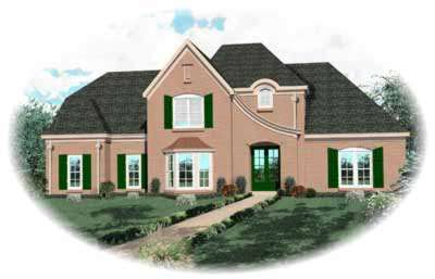 French-country Style House Plans Plan: 6-827