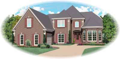 Traditional Style Home Design Plan: 6-829