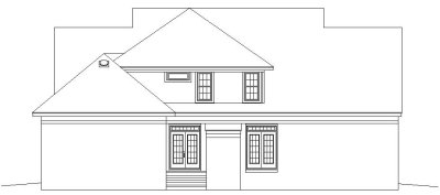 Rear Elevation Plan: 6-844