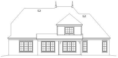 Rear Elevation Plan: 6-850