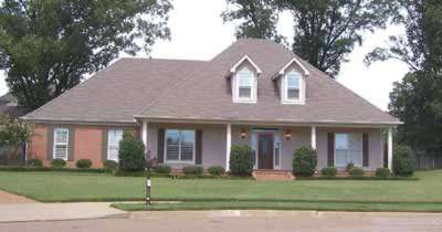 Southern Style Home Design Plan: 6-852