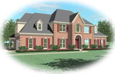 Traditional Style Home Design Plan: 6-853