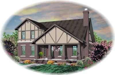 Tudor Style Floor Plans Plan: 6-868