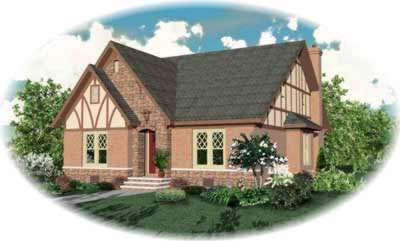 English-country Style House Plans Plan: 6-872