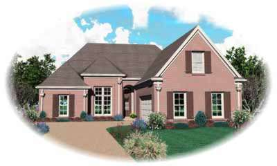 Traditional Style Home Design Plan: 6-880