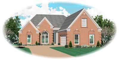 Traditional Style Home Design Plan: 6-881