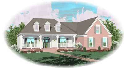 Southern Style Home Design Plan: 6-885