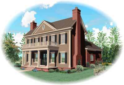 Southern-colonial Style Floor Plans Plan: 6-886