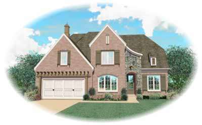 French-country Style Floor Plans Plan: 6-895