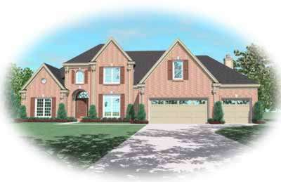 Traditional Style Home Design Plan: 6-906
