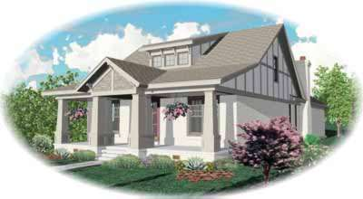 Bungalow Style Home Design Plan: 6-907
