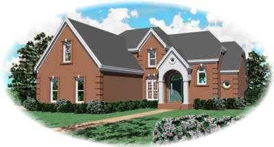 European Style Home Design Plan: 6-912