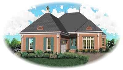 European Style House Plans Plan: 6-923