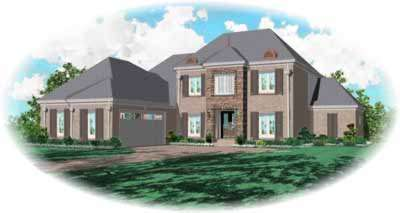 Southern-colonial Style House Plans Plan: 6-932