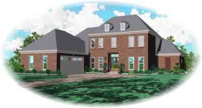 Early-american Style Home Design Plan: 6-938