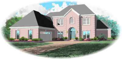 Traditional Style Home Design Plan: 6-940