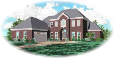 Southern-colonial Style Home Design Plan: 6-941