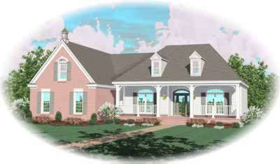 Southern Style Home Design Plan: 6-953
