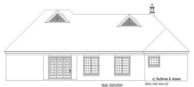Rear Elevation Plan: 6-954