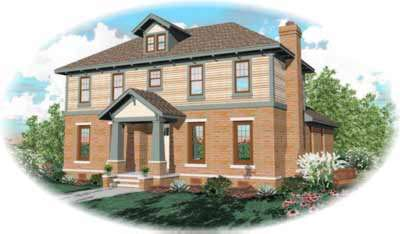 Early-american Style House Plans 6-955