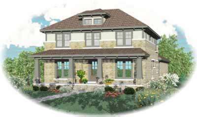 Bungalow Style Home Design Plan: 6-956