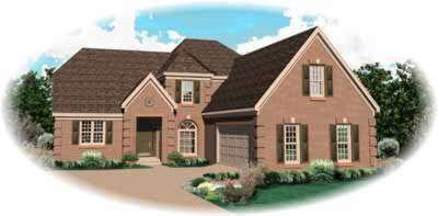 Traditional Style Home Design Plan: 6-962