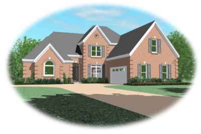 European Style Home Design Plan: 6-967