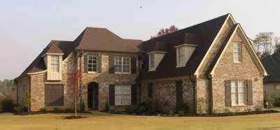 French-country Style Home Design Plan: 6-975