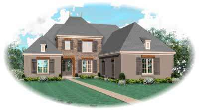 European Style House Plans Plan: 6-976