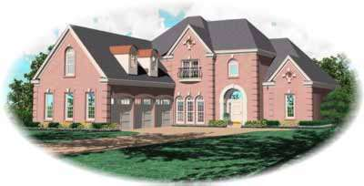 European Style House Plans Plan: 6-990