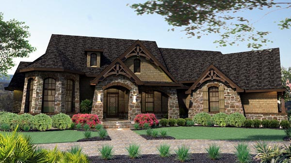 Craftsman Style Floor Plans Plan: 61-103