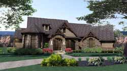 Craftsman Style Home Design Plan: 61-103