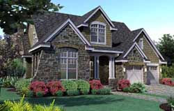 Craftsman Style Home Design Plan: 61-104