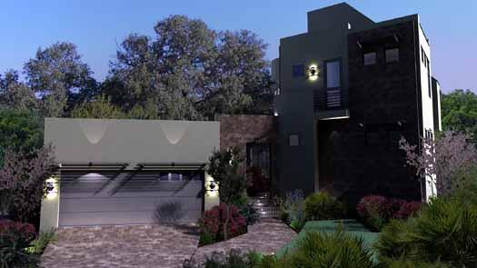 Modern Style House Plans Plan: 61-105