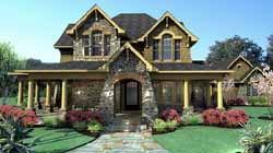 Craftsman Style Home Design Plan: 61-106