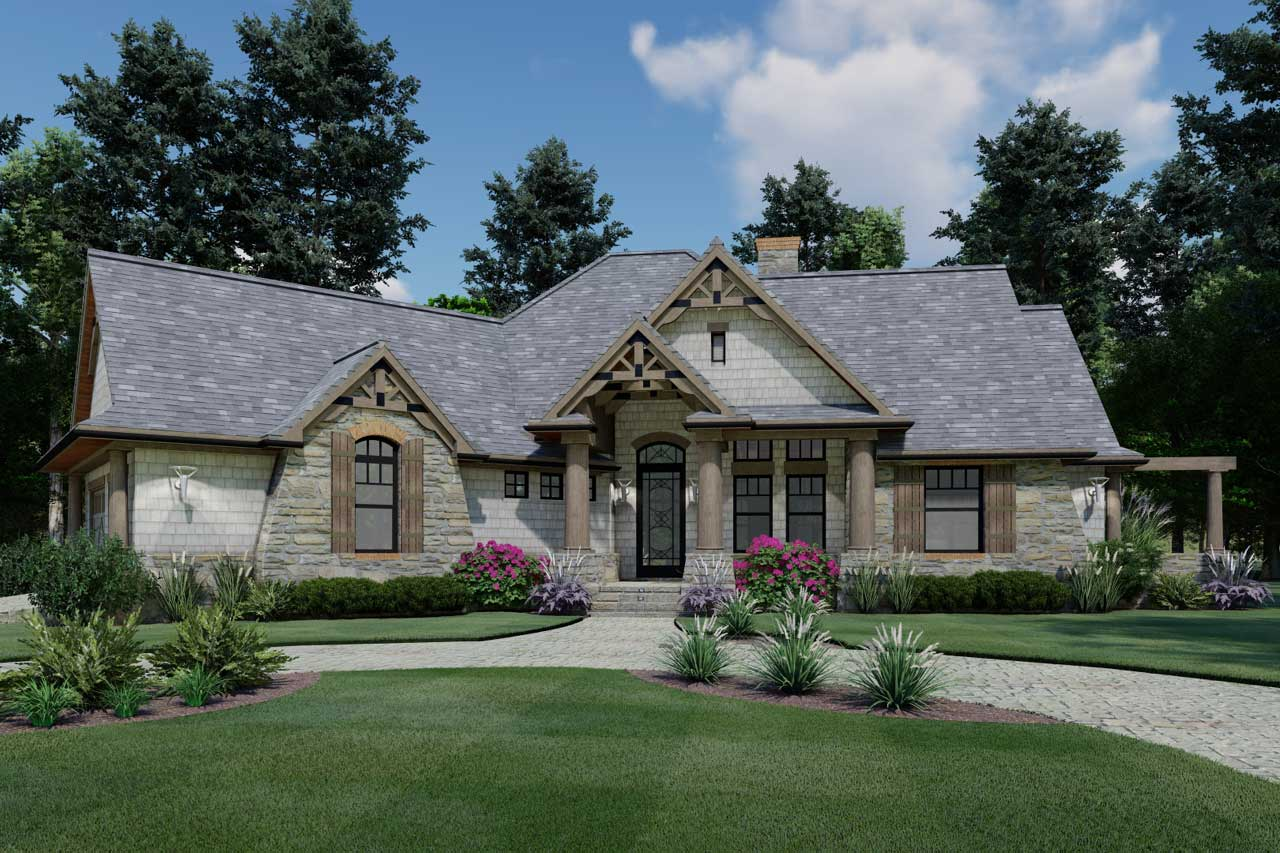 Craftsman Style House Plans Plan: 61-108