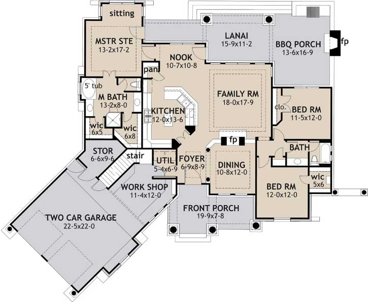 Main Floor Plan: 61-108