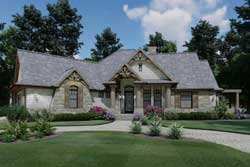 Craftsman Style Home Design Plan: 61-108