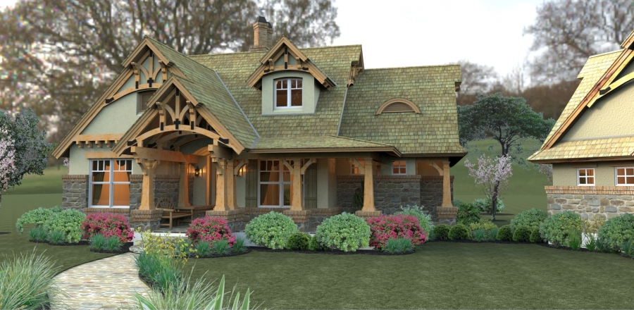 Craftsman Style House Plans Plan: 61-111