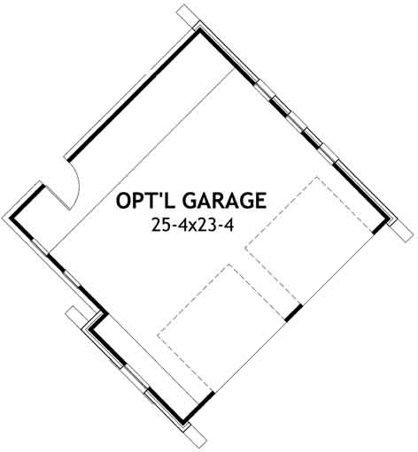Craftsman Style Home Design Plan: 61-111