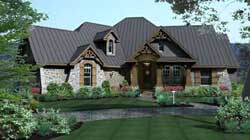 Craftsman Style Home Design Plan: 61-112