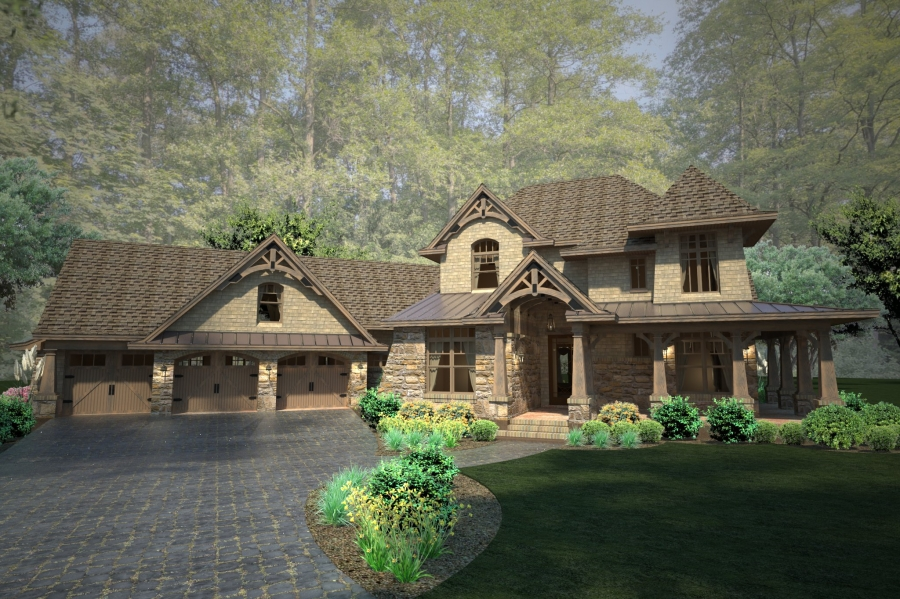 Mountain-or-rustic Style House Plans Plan: 61-113