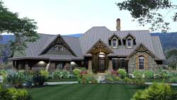 Mountain-or-Rustic Style Home Design Plan: 61-114