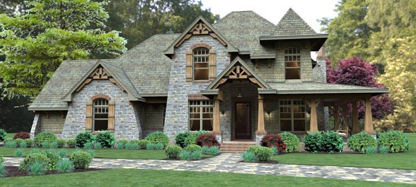 Mountain-or-Rustic Style House Plans Plan: 61-115