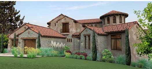 Italian Style House Plans Plan: 61-118