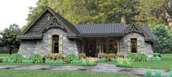 Mountain-or-Rustic Style Home Design Plan: 61-119