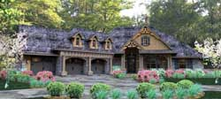 Craftsman Style Home Design Plan: 61-121
