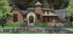 Tuscan Style House Plans Plan: 61-122