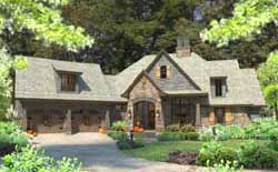 Craftsman Style Home Design Plan: 61-124