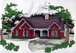 French-Country Style Floor Plans Plan: 61-131